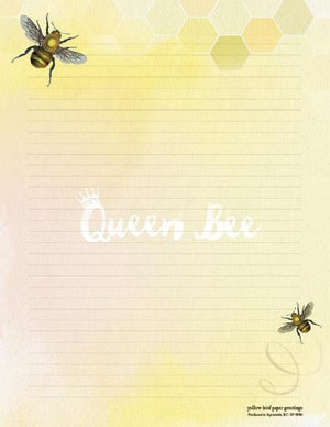 Bee Images Queen Bee Stationery Writing Pad