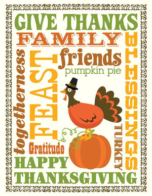 TGIVE 9002-Multi Thanksgiving Card