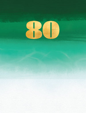 80th Birthday - (tidemark TM1001)
