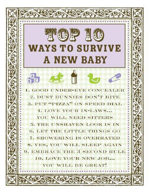 New Baby Top 10 Survive List greeting Card