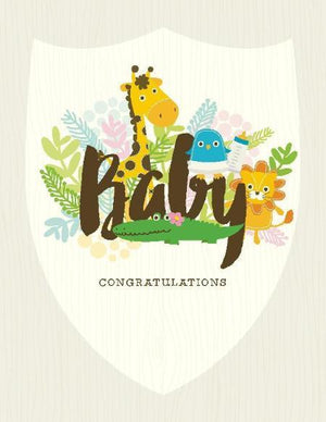 Growing Baby Congratulations greeting card