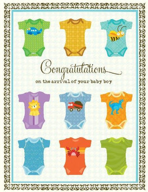 New Baby Boy Undershirts greeting Card