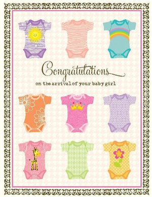 New baby girl Undershirts greeting Card