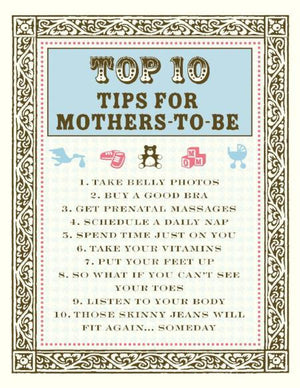 New Baby Top 10 Tips for new mothers greeting Card