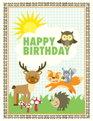 VA9047-Woodlands Birthday Card