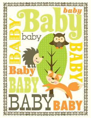 VA9048-Woodland Baby Card