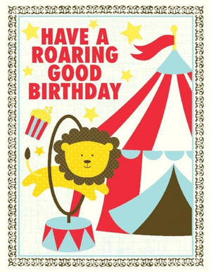 Kids Roaring Good Birthday greeting Card