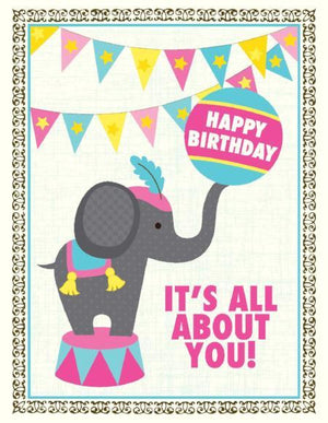 Kids Baby elephant Birthday greeting card