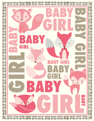 New Baby Girl Fox greeting card