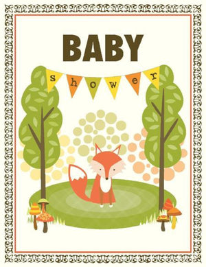 VA9055-Fox Shower Baby Card