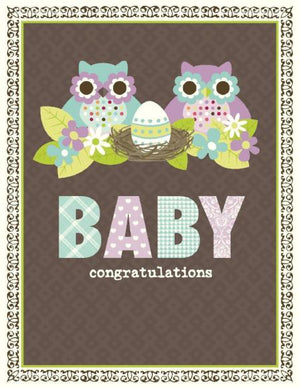 New Baby Owl Family greeting Card
