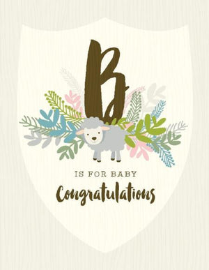 B For Baby congratulations greeting Card