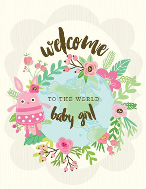 VA9061-Welcome Baby Girl Card