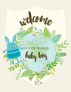 VA9062-Welcome Baby Boy Card