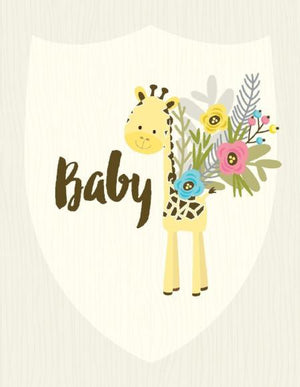 Baby Giraffe posie congratulations greeting card