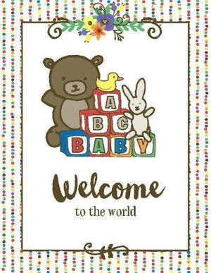 Primary colour welcome to the world new baby congrats greeting card