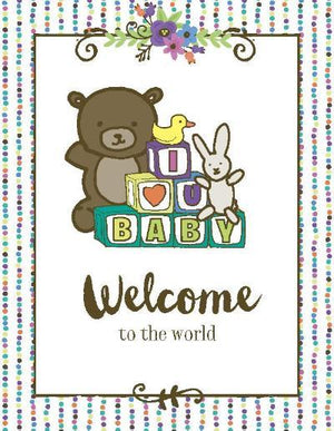 Bright Colour Welcome to the world new baby greeting card