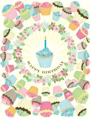 Cupcake Bouquet Birthday Card