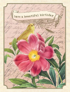 VB9071-Aviary Canary Birthday Card