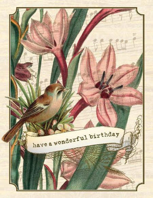 Vintage Lilly Have a Wonderful Birthday Card
