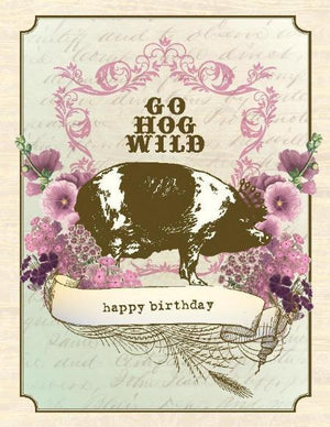 VB9086-Aviary Hog Wild Birthday Card