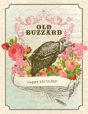 Vintage Old Buzzard Birthday Card