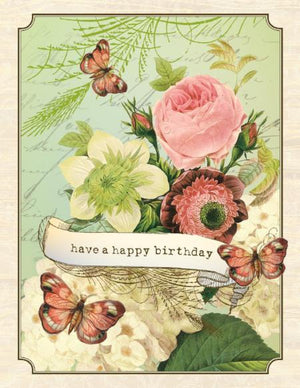 VB9088-Aviary Bouquet Birthday Card