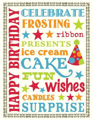 Birthday Hat Multi Sayings Birthday Card
