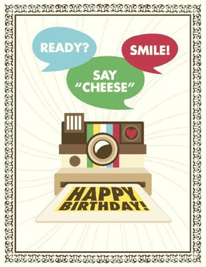 Vintage Camera Take A Photo Birthday Card