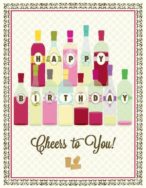 Cheers To You Wine Birthday Card