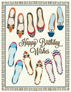 All The Shoes Happy Birthday Card