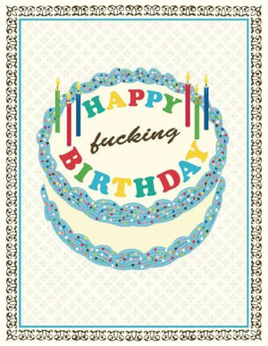 Swearing Happy F***ing Birthday Card