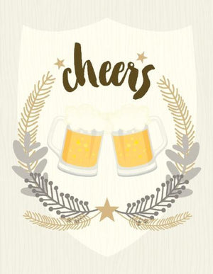 Cheers Beer Steins Happy Birthday Card
