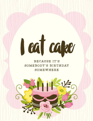 NEW-I Eat Cake Card