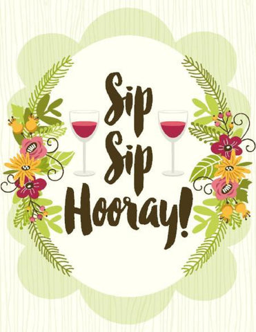 VB9126-Sip Sip Hooray Card