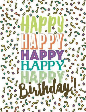 Brights Multi Happy Birthday Card
