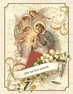 Christmas baby jesus Joy To the World greeting Card
