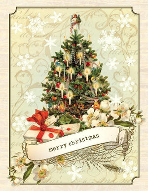 VC9080-Aviary Christmas Tree Card