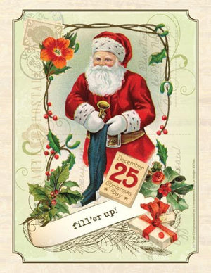 Christmas Santa Fill'er Up greeting Card
