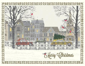 Christmas Snowy Street Scene Greeting Card