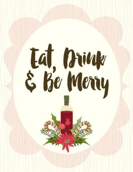 NEW-Eat Drink Be Merry Card