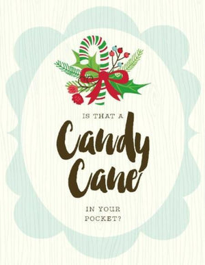 Christmas Candy Cane in Pocket greeting Card
