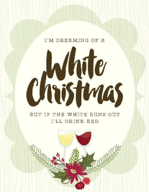 NEW-White Christmas Red Card