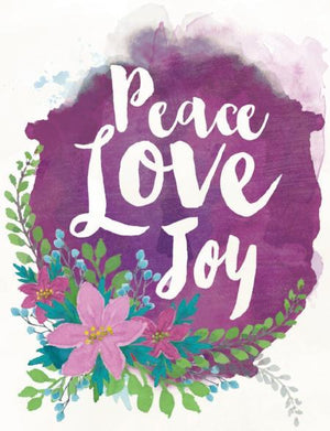 Christmas peace love joy greeting card