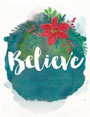 Believe in Christmas greeting card