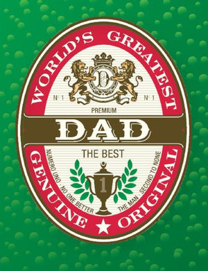 Genuine Dad Beer Label Father's Day Greeting Card