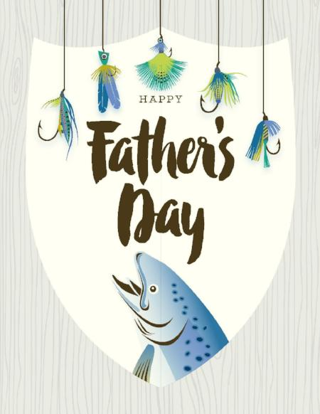 NEW-Fish Father's Day Card