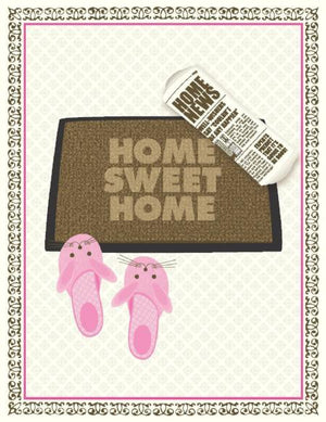 Home Sweet Home Front Door Mat New Home Greeting Card