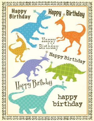 children Dinosaur party Birthday Card