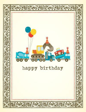 Kids Trucks Cake Birthday Card